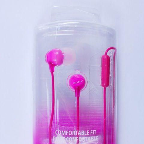 Original OEM Sony EX Series Headset  MDR-EX15AP Wholesale Earphone Pink