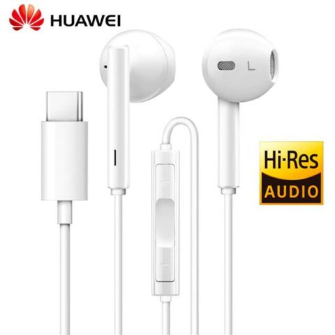 Original Genuine Huawei P20 Pro CM33 USB-C Stereo Headphones – White