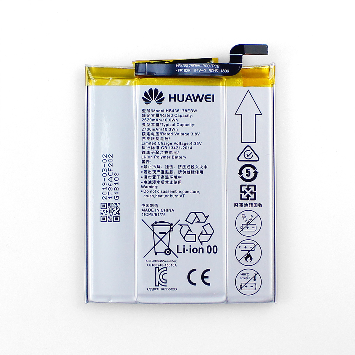 Huawei Mate S CRR-CL00 UL00 HB436178EBW Original Battery Wholesale